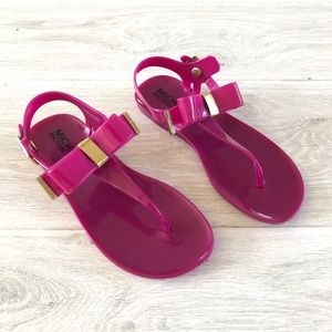 Michael Kors Pink Jelly Bow Sandals